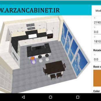 دانلود کیتچن پلنر تری دی اندروید برنامه طراحی کابینت اندروید download kitchen planner 3d android
